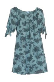 Tuniek/jurk palmboom groen