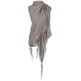 Sjaal Boho veer taupe