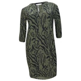 Angelle Milan tuniek/jurk met panterprint groen
