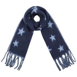 Sjaal star blue