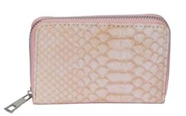 Portemonnee krokodillenprint roze