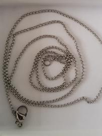 IXXXI ketting 80 cm in zilver-, goud- of rosé kleur