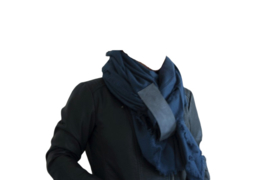 Sjaal west blauw