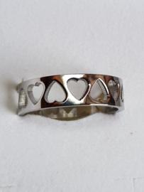 IXXXI vulring hartjes (zilver-, goud-, of rosé kleur)