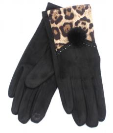 Handschoen animal zwart
