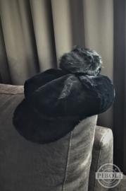 Pet pompom zwart