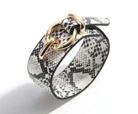 Armband snake wit