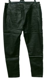 Leatherlook jeans zwart