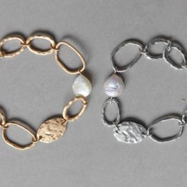 Armband Biba zilverkleurig