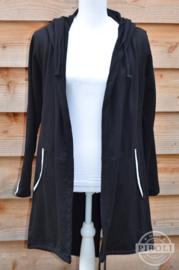 Vest met streep zwart