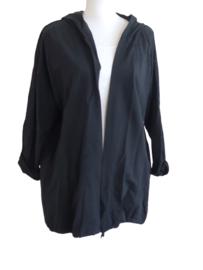 Vest met print zwart