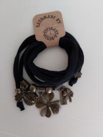 Ibiza armband Lucky zwart