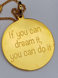 "IXXXI hanger ""if you can dream it..."" goudkleurig of rosékleurig"