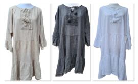 Tuniek/jurk Luna zwart, beige of wit