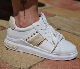 Sneaker wit/beige