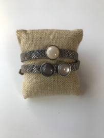 Cuoio armband beige