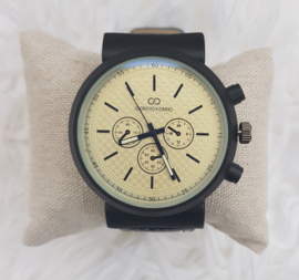Heren horloge Giorgio blauw/creme