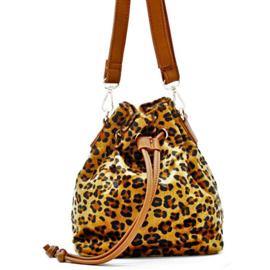 Crossbody tas luipaard bruin