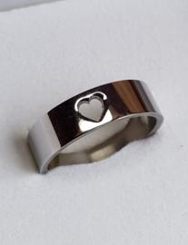 IXXXI invulring hartje (zilver-, goud-, of rosé kleur)