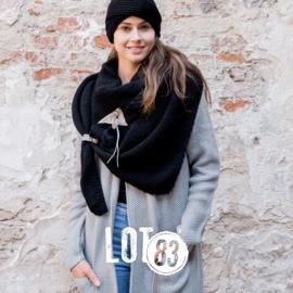 Lot83 sjaal Bo zwart