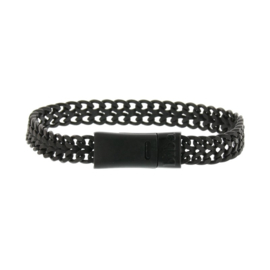 Biba chain bracelet zwart