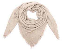 Sjaal beige triangel