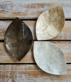 Schaaltje blad (bruin, wit of beige)