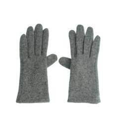 Handschoen ster grijs