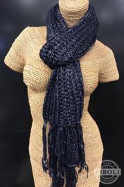 Metallic sjaal blauw