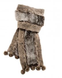 Sjaal Cozy bruin