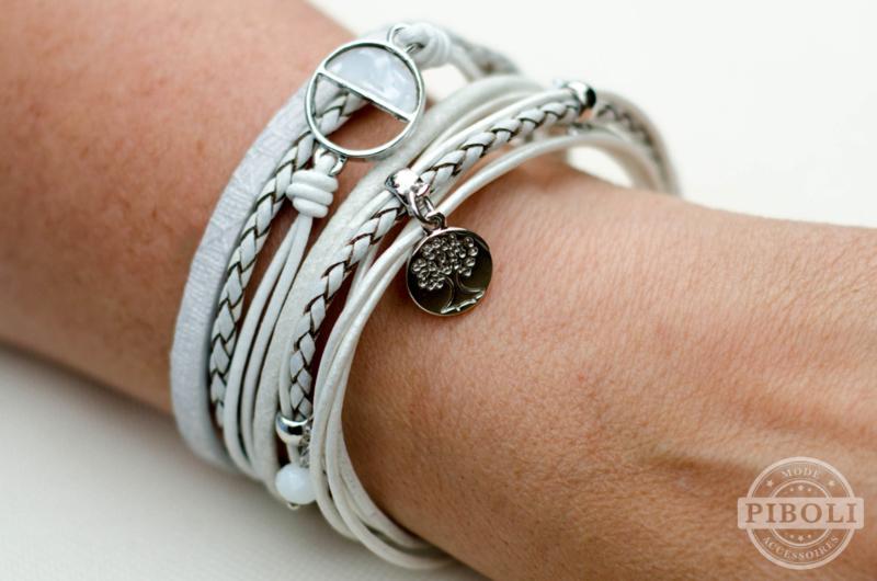 Armbanden set wit