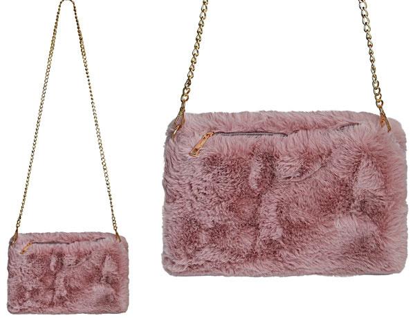 Schoudertas/clutch/handwarmer roze