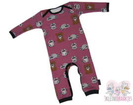 Jumpsuit Raccoon Fuchsia