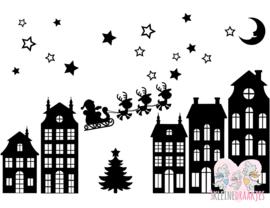 Raamstickers Sinterklaas en/of kerst Groot