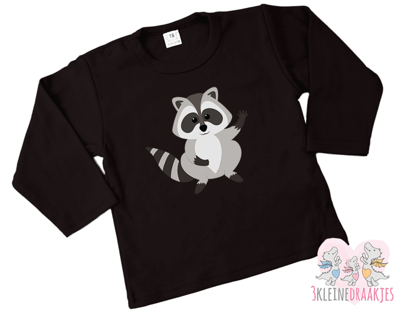 Shirt Raccoon Hello