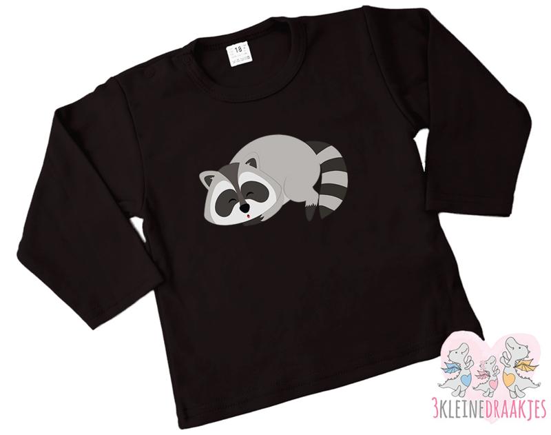 Shirt Raccoon Sleepy