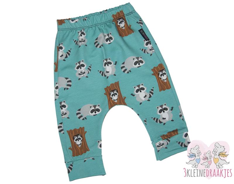 Baggybroek Raccoon Blauw