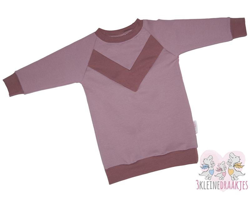 Sweaterdress Oudroze