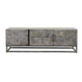 Tv-meubel Grando Massief Mangohout Grijs