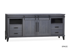 SPACY DRESSOIR 2 DR/4LA/2 OPEN LAMULUX