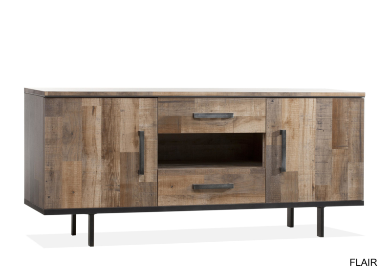 FLY DRESSOIR 2 DR/2LA/1 OPEN LAMULUX