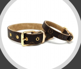Flower Collar Brown  Catwalkdog