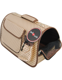 Travel pet carrier beige L49cm x 28cm x 29cm