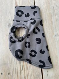 T shirt  windhond leopard grijs XS