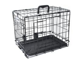 Voyager Wire Crate 2 doors Black 76x48x73 cm - M