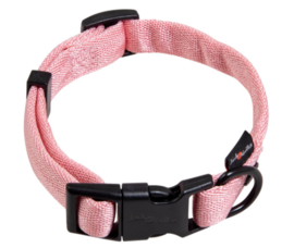 Comfort Tube Nylon hondenhalsband Roze S