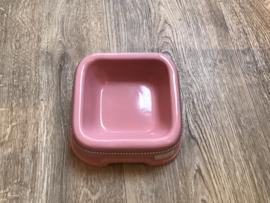 Porseleinen voerbak roze