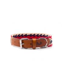 Peruvian arrow red dog collar