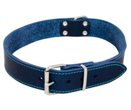 Vetleder halsband Blauw 16mm X 40cm