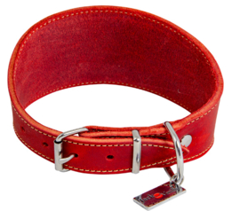 Windhondhalsband Rood 42cm